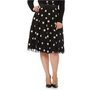 Voodoo Vixen Silvia Chiffon Snowflake Flare Skirt